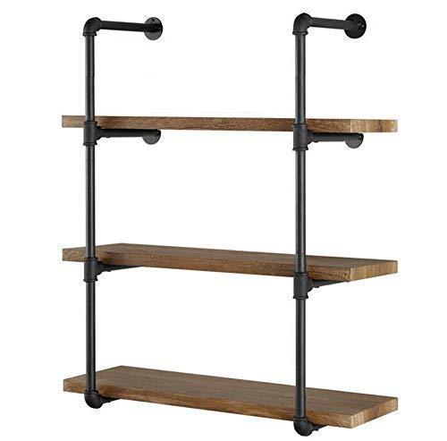 Yuanshikj 2Pc (42' tall ) (12'deep ) Industrial Wall Mount iron Pipe Shelf Shelves Shelving Bracket Vintage Retro...