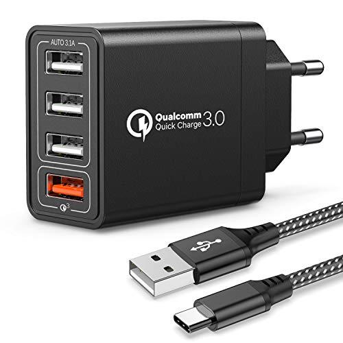 JOOMFEEN Caricatore USB da Muro Con Cavo USB Type...