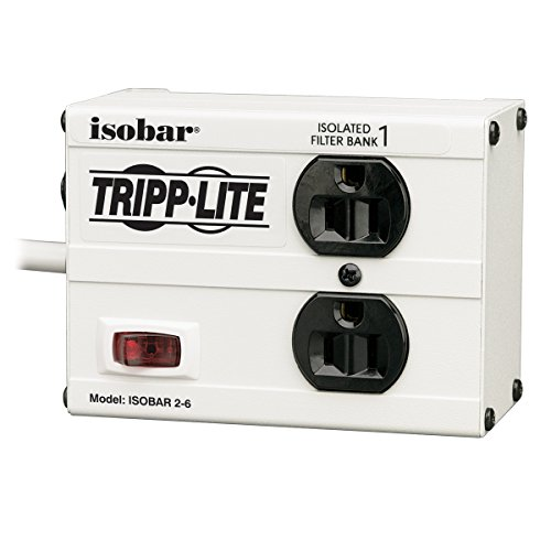 Tripp Lite Isobar 2 Outlet Surge Protector Power Strip, 6ft Cord,...
