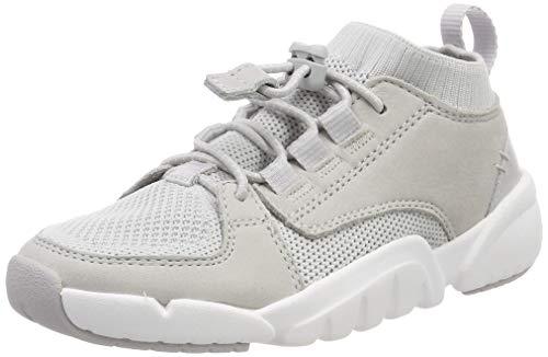 Clarks Tri Lunar K, Sneaker a Collo Alto Bambino, Bianco (off White Combi-), 28 EU