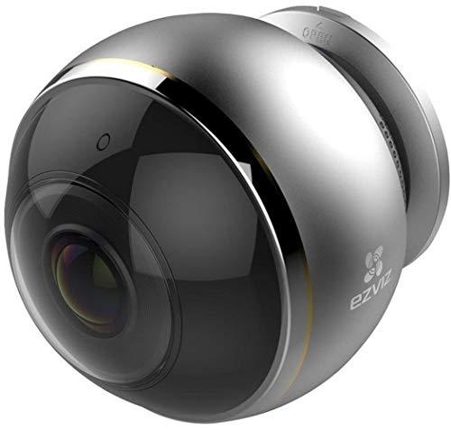 Cámara de seguridad EZVIZ Mini Pano, panorámica de ojo de pez de 3 MP, WiFi de 2,4 y 5 Ghz, cámara de vigilancia de audio bidireccional, monitor de bebé, visión nocturna, servicio en la nube disponible