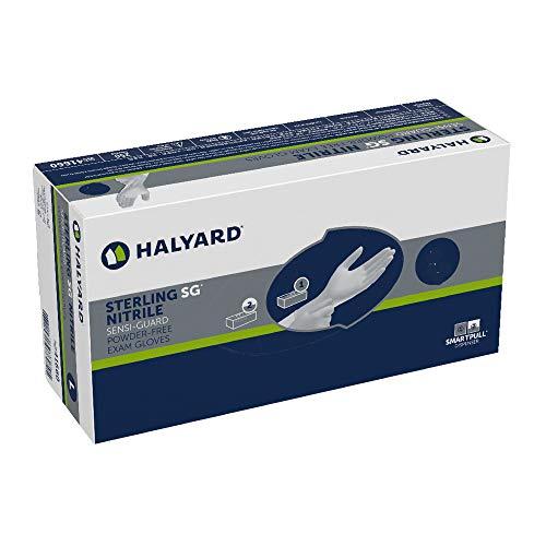 HALYARD STERLING SG Exam Gloves, Powder-Free, Sensi-Guard, 3.7 mil, Large, 41660 (Box of 250)