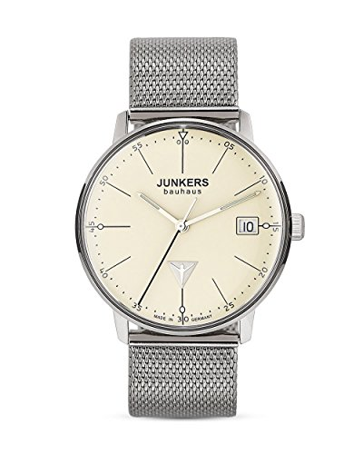 Junkers Damen Analog Quarz Uhr mit Edelstahl Armband 6071M5