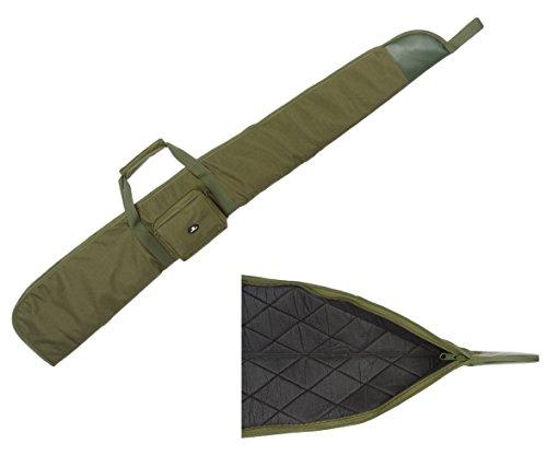 Case4Life Grün Gepolstertes Schutz Tasche für Luftgewehr/Schrotflinte/Jagdtasche + Abnehmbarer gepolsterter Schulterriemen
