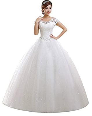 100% New & High Quality SIZE 2-18 & Customzation Wedding dress,Floor Length, back with bandage. The Wedding dress NOT include petticoat Customized sizes are also available. If you need a custom made size, please contact us and send us your measuremen...