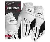 Callaway Golf Men's Weather Spann Premium Japanese Synthetic Golf Glove (Medium , Two-Pack, White,...