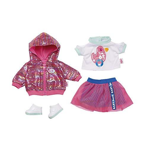 Zapf Creation 43cm Baby Born City Deluxe Style-Saco de Dormir para bebé (43 cm), Color Rosa, Blanco, Menta. (827147)