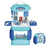 23 piezas Kit médico 23 piezas Kits médicos de juguete Conjunto de juguetes médicos, caja de medicina de simulación Kit médico enfermera con estuche de transporte para niños pequeños niñas 3 4 5 6 7 8