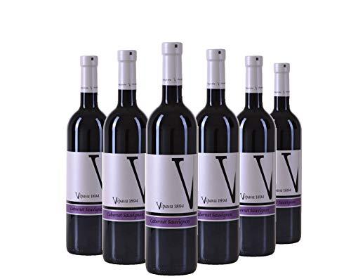 Vipava 1894 vino rosso Cabernet Sauvignon 2017, vino rosso secco raccolto a mano (6 x 0,75 l)