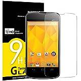 NEW'C Lot de 3, Verre Trempé pour LG Google Nexus 4, Film Protection écran -...
