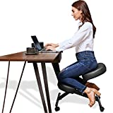 Himimi Ergonomic Kneeling Chair - Faux Leather - Thick Comfortable Moulded Foam Cushions - Smooth Gliding Casters & Brake Casters,Adjustable Stool for Home & Office