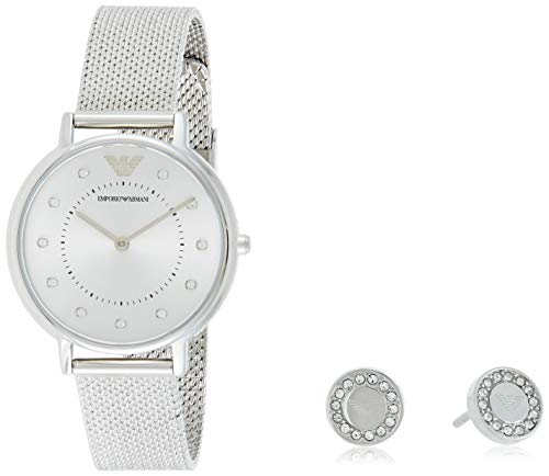 Emporio Armani Damen Analog Quarz Uhr mit Edelstahl Armband AR80029