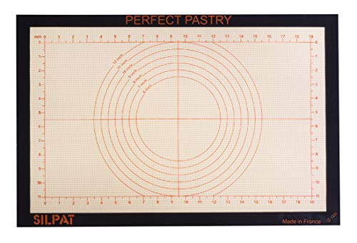 "Silpat Perfect Pastry Non-Stick Silicone Countertop Workstation Mat, 15-1/8"" x 23"""