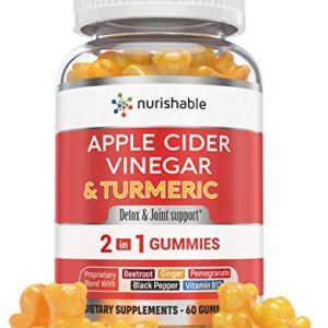 Apple Cider Vinegar Gummies & Turmeric Gummies in 1 Bottle - for Joint Support, Detox Cleanse & Weight Management for Women & Men - Packed with Ginger, B12, Black Pepper, Pomegranate 6 - My Weight Loss Today