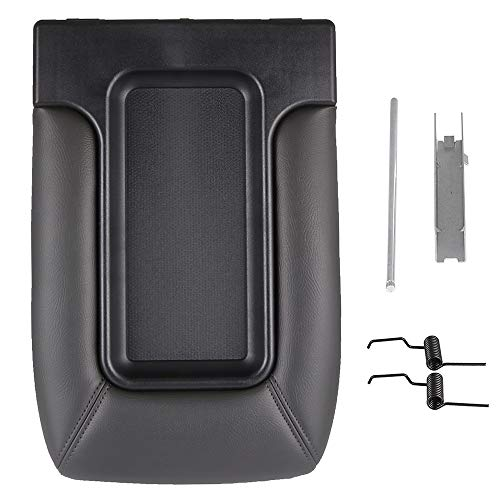 SCITOO Auto Dark Grey Center Console Lid Kit Replacement fit for 2001-2007 for GMC Sierra for Chevrolet Silverado