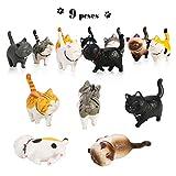 PHOGARY 9 STÜCKE Realistische Katzenfiguren, Lehrreich Kitty Figuren Spielzeug-Set, Kätzchen Ostereier Kuchendeckel Weihnachtsgeburtstagsgeschenk für Kinder Jungen Mädchen Kinder Katzenliebhaber