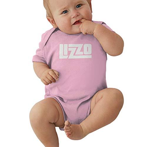Johnson hop Lizzo - Tuta da neonato, a maniche corte, con logo Lizzo, rosa, 2T