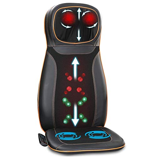 JSB HF64 Back Massager Machine for Neck Shoulder Pain Relief in Car Seat and Office Chair (Back and...
