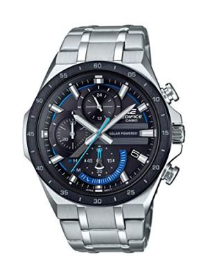 Casio Men's Edifice Quartz Watch with Stainless Steel Strap, Silver, 28.5 (Model: EQS-920DB-1BVCR)