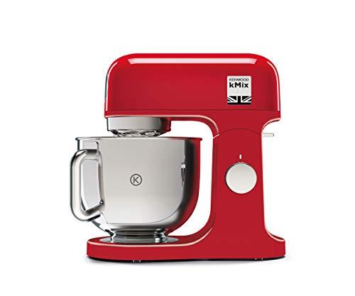 Kenwood KMX750AR Impastatrice Planetaria Kitchen Machine kMix, Robot da Cucina Mixer, 1000 W, 5 Litri, Acciaio, Plastica, Rosso