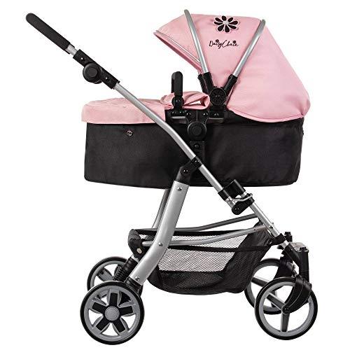 Daisy Chain Connect, Carrozzina per Bambole 5-in-1 - Tessuto Classic Pink. Raccomandata per Bambini...