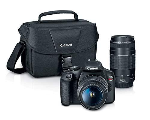 Canon EOS REBEL T7 DSLR Camera|2 Lens Kit with EF18-55mm + EF...