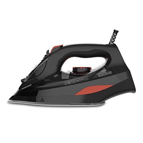 Black + Decker BXIR300E - Ferro da stiro a vapore, 3000W, Getto di vapore 200 g/min, Vapore continuo 45 g/min, Doppio sistema anticalcare, Funzione spray