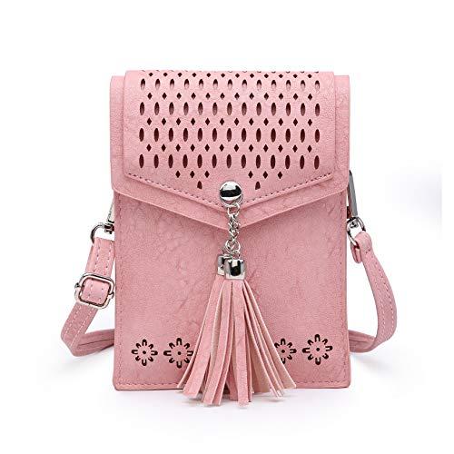 seOSTO Womens Small Crossbody Bag, Tassel Cell Phone Purse...