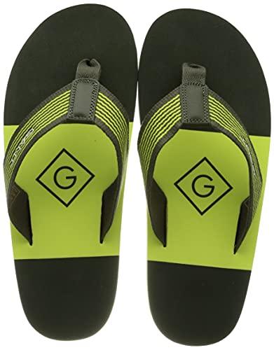 GANT Palmworld Beach Sandal, Sandalia Hombre, Hoja Oscura, 41 EU