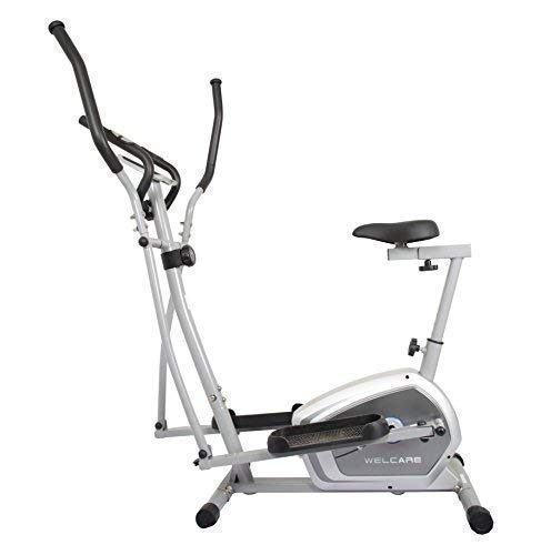 Welcare Elliptical Cross Trainer WC6044 with Adjustable seat, Hand Pulse Sensor, LCD Monitor,...