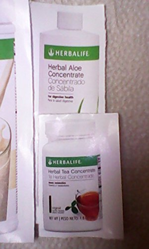 HERBALIFE QUICK COMBO - FORMULA 1 SHAKE MIX (Vanilla), PERSONALIZED PROTEIN, HERBAL ALOE (Mango), HERBAL TEA CONCENTRATE (Raspberry) 2
