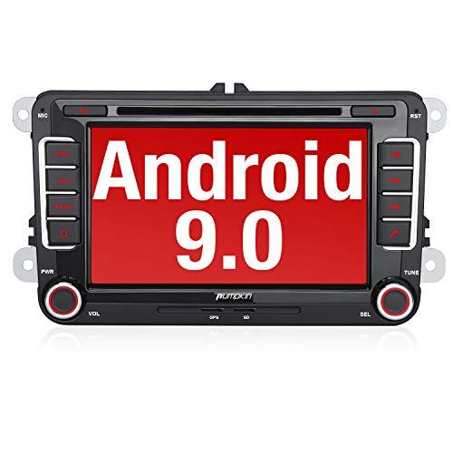 PUMPKIN Android 9.0 Autoradio für VW Radio mit Navi Unterstützt Bluetooth, DAB + CD DVD Android...