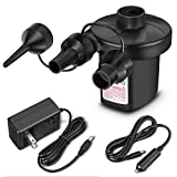 Portable DC Electric Air Pump, laucin Inflator/Deflator Electric Pumps - Vacuum Compression Bags Suction Pump-110V AC/12V DC-Perfect for Using Outdoor and Indoor