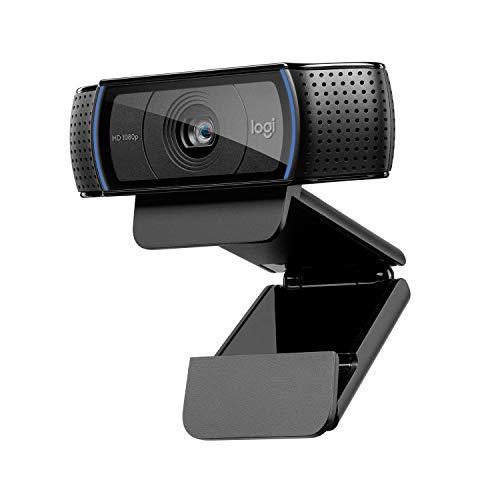 Logitech C920 HD Pro Webcam, Videochiamata Full HD 1080p/30fps, Audio Stereo Chiaro, Correzione Luce HD, Funziona con Skype, Zoom, FaceTime, Hangouts, PC/Mac/Laptop/Macbook/Tablet, Nero