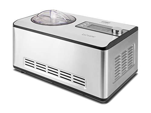 CASO Ice Creamer - 2 in 1 Design Eismaschine und Joghurtmaschine mit Kompressortechnik, kein Vorkühlen notwendig, produziert bis zu 2 Liter Eiscreme, Speiseeis oder Joghurt
