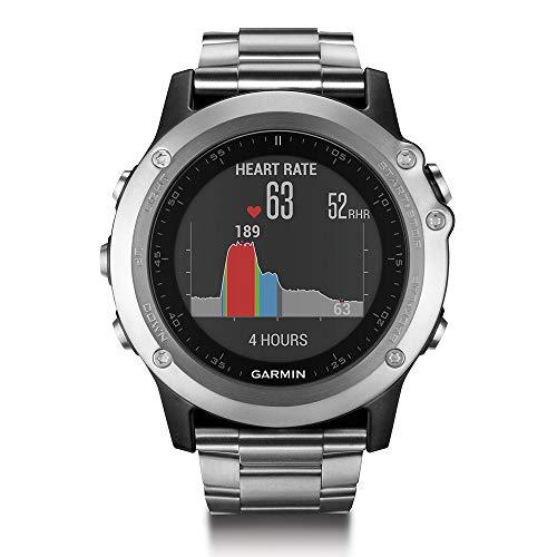 Garmin Fenix 3 HR GPS Watch with Titanium & Sport Bands