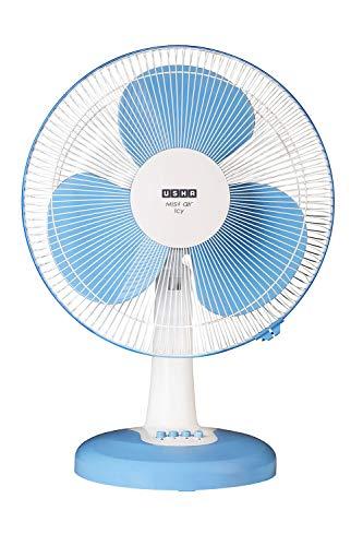 Usha Mist Air ICY 400MM 55- Watt Table Fan (Blue)