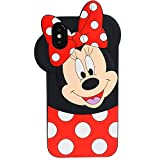 TopSZ Case for iPhone XR 6.1', Cute Silicone Couple Lover Love 3D Cartoon Cool Kawaii Animal Cover,Soft Rubble Skin for iPhone XR,Funny Unique Character Cases for Kids Girls Teens boy Guys-Minnie