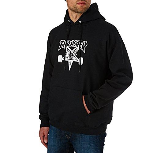 THRASHER Skate Goat Hood Sudadera, Unisex Adulto, Black, L