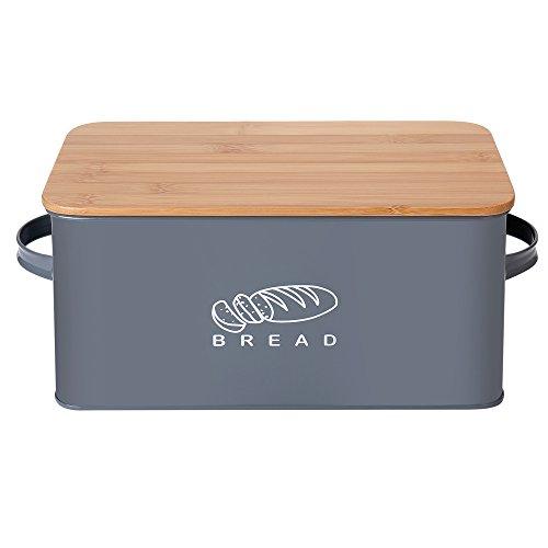 G.a HOMEFAVOR Brotkästen Küchen Brot Box Aufbewahrungscontainer mit Bambus Deckel(Brotbretter), 30 * 16.5 * 15cm