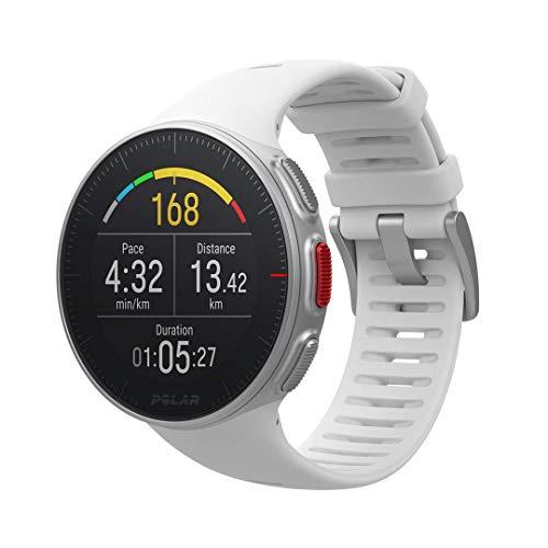 Polar Vantage V, Sportwatch per Allenamenti Multisport e Triathlon, Standard, Impermeabile con GPS e Cardiofrequenzimetro Integrato, 46 x 46 x 13 mm, Unisex Adulto, Bianco