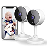 [New2021] WiFi Camera 2PCS Littlelf Security Camera, 1080P Indoor Camera Wifi Baby Monitor with...