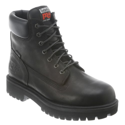 Timberland PRO Men's 26038 Direct Attach 6' Steel Toe Boot,Black,9.5 W (US)