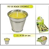 Les Colis Noirs LCN - Bougie Citronnelle en Pot - Extérieur Anti Moustique Décoration - 550