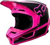 2019 Fox Racing V1 Przm Off-Road Motorcycle Helmet - Black/Pink / Large