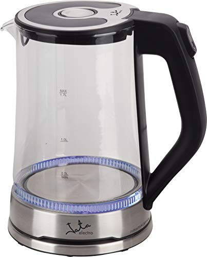 Jata HA1037 Hervidor de Agua Profesional con Iluminación Interior Base y Placa Calefactora de Acero Inoxidable Capacidad 1,7 l 2200 w