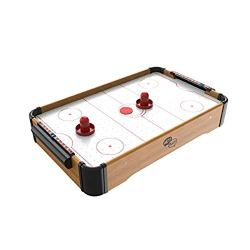 Mini Arcade Air Hockey Table- A Toy for Girls and Boys by Hey! Play! Fun Table- Top Game for Kids, Teens, and Adults- Battery-Operated (22 Inches)