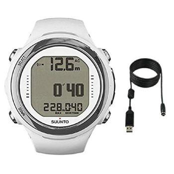 SUUNTO D4i Novo Dive Watch with USB PC Download Kit, White