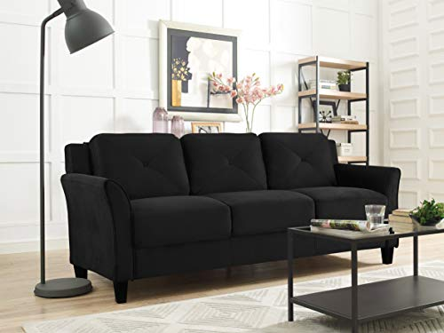 LifeStyle Solutions Collection Grayson Micro-Fabric Sofas, 80.3'x32'x32.68', Black