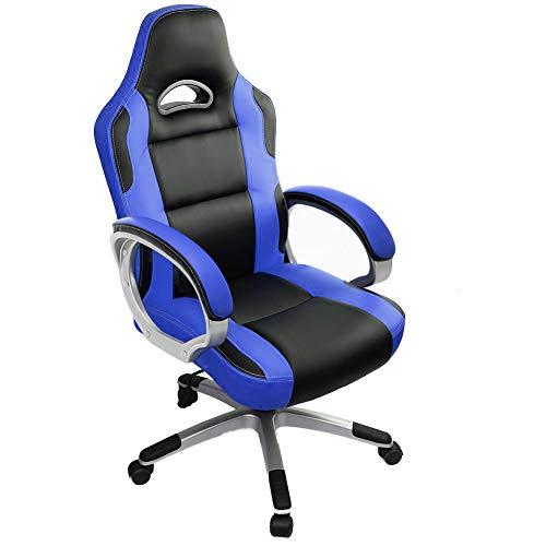 IntimaTe WM Heart Sedia Gaming e Ufficio Ergonomica Sedia per Cumputer, sedia di finta pelle PU, Poltrona per studio ,Blu GB02